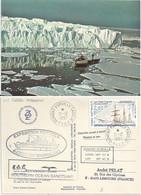 YT 206 Voilier Mixte Yves De Kerguelen - Posté à Bord De L'Akademic Shokalski - Dumont D'Urville - 21/12/1997 - Briefe U. Dokumente