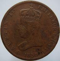 Haiti 6 1/4 Centimes 1850 VG / F - Haiti