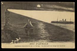 Κέρκυρα Corfou Croiseur Auxilliaire De 1er Rang Vu De Nuit Au Large De Pampa Lot De 2 CPA 1918 - Greece
