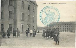 CARTE POSTALE AVEC CACHET DE FRANCHISE 8° REGIMENT D'ARTILLERIE A PIED - 1. Weltkrieg 1914-1918