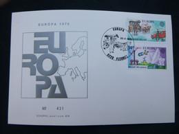 EUROPA -CEPT 1979 EUROPA CEPT  FDC Echophil Card 431 BELGIUM (Fleurus) Cat.n°1930-1931 - 1979