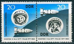 DDR - Mi 970 / 971 = WZd 90 - ** Postfrisch (C) - 20-20Pf  Wostock 5 Und Wostock 6 - Nuovi