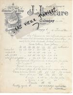21 - Côte-d'or - SELONGEY - Facture LESCURE - Fabrique D'ustensiles De Ménage En Fer Blanc, Etc - 1900 - REF 160A - 1900 – 1949