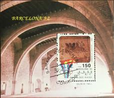 Sahara 1992 Olympic Games Minisheet CTO - Timbres