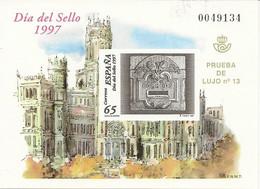 España Prueba Oficial  Edifil 62 Día Del Sello  1997  NL910 - 1931-Hoy: 2ª República - ... Juan Carlos I