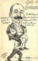POLITIQUE CARTE SATIRIQUE Mon Guignol  (20 Exemplaires ) M.Magno - Satirisch