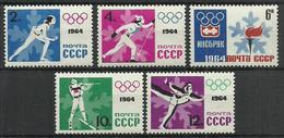 Soviet Union USSR 1964 Mi 2866-2870 MNH ( ZE4 CCC2866-2870 ) - Winter 1964: Innsbruck