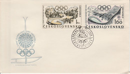 TCHECOSLOVAQUIE FDC 1968 J O GRENOBLE - Unclassified
