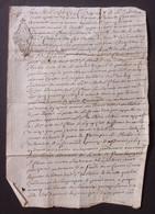 Manuscrit Du XVIIIe Siècle - Cantal - Saint-Flour - Protagonistes Dénommés Antoinette Maury Veuve Bigot Et Autres - Manuskripte