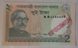 Bangladesh - 2 Taka - 2018 - SPECIMEN - UNC - Bangladesh