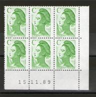 "CD 2615**__""C"" Vert_15/11/89_petits Blancs D'impression_2° Tirage - 1980-1989"