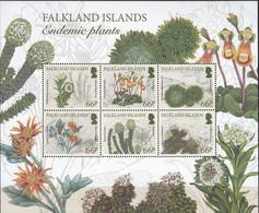 Falkland Islands 2016, Endemic Plants, MNH Sheet - Islas Malvinas
