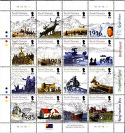 South Georgia And The South Sandwich Islands 2004, Local Events In The History, MNH Sheet - Géorgie Du Sud