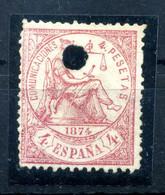 1874 SPAGNA USATO N.149 Forato (usato Per Telegrafo) - Oblitérés
