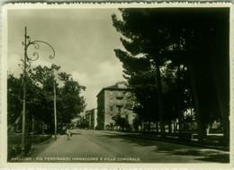 AVELLINO - VIA FERDINANDO IANNACCONE E VILLA COMUNALE - EDIZIONE CARCAVALLO - SPEDITA 1954 (BG6105) - Avellino