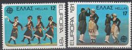 Greece,1981, Michel 1445- 1446, UROPA Stamps - Folklore, 2v, MNH - Greece