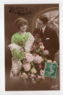 - CPA COUPLES - Bonne Année - Série Mésange 489 - - Couples