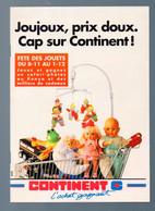 (jouets) Catalogue Noël 1990 CONTINENT   (M0758) - Pubblicitari