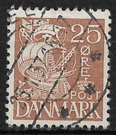 Denmark 1934. Scott #234 (U) Caravel - Usati