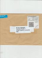 Gran Bretagna 2020 - Busta X L'Italia Affrancata Con 1 Etichetta £ 3 - 1952-.... (Elizabeth II)