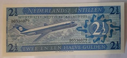 Antilles - 2,50 Gulden - 1970 - UNC!!! - ALM Plane / Avion - Billetes