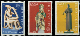 Greece, 1974, Michel 1166*-1168, EUROPA Stamps – Sculptures, 3v, MNH - Unused Stamps