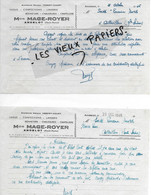 52 - Haute-marne - ANDELOT - Facture MAGE-ROYER - Tissus, Confections, Lingerie, Bonneterie, Etc - 1946 - REF 160B - 1900 – 1949