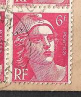 France N°721A Mèches Reliées - Variétés: 1921-30 Lettres & Documents