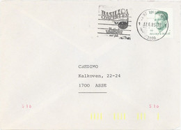 BELGIUM. POSTMARK BASILICA CONCERTEN. ST. TRUIDEN 1985. MUSIC - Marcophilie