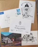Mgr F. CHANG-HIM évêque Seychelles - Carte Signée 1984 + Divers Documents > France - Seychelloisanglican Bishop - Autogramme & Autographen