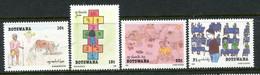 Botswana 1989 Children's Paintings Set MNH (SG 678-681) - Botswana (1966-...)