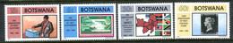 Botswana 1990 Anniversaries Set MNH (SG 686-689) - Botswana (1966-...)