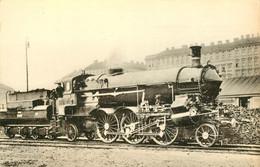 Thème Train Locomotives Autrichiennes Prairie Compound Série 110 K K St -B CP Ed. H.M.P. N°1802 Locomotive Vapeur - Trenes