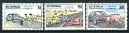 Botswana 1990 First National Road Safety Day Set MNH (SG 706-708) - Botswana (1966-...)