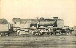 Thème Train Locomotives Belges Machine Pacific  CP Ed. H.M.P. N°1804 Locomotive Vapeur - Trenes