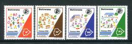 Botswana 1991 National Census Set MNH (SG 713-716) - Botswana (1966-...)