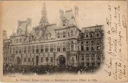 CPA Paris 4e - Manifestation Devant L'Hotel De Ville (54983) - Manifestazioni