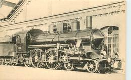 Thème Train Locomotives Hongroises (M A V) Atlantic Série 202 CP Ed. H.M.P. N°1814 Locomotive Vapeur - Trenes