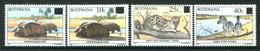 Botswana 1992 Animals Surcharges Set MNH (SG 725-728) - Botswana (1966-...)