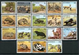 Botswana 1992 Animals Set MNH (SG 738-755) - Botswana (1966-...)