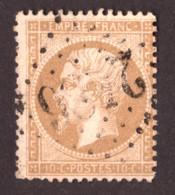 Napoléon III N° 21 Bistre-jaune Foncé - Oblitération GC 2486 Montmarault (Allier) - 1862 Napoleon III