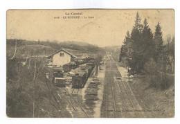 E285 - LE ROUGET - La Gare  - Avec Train ! - Otros Municipios