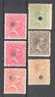 SP108 1889 SPAIN KING ALPHONSE XIII MICHEL #193,196,197,200,201 6ST USED - 1889-1931 Reino: Alfonso XIII