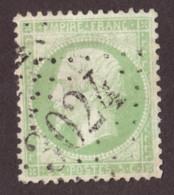 Napoléon III N° 20 Vert Pâle - Oblitération GC 3024 Pressigny Le Grand (Indre Et Loire) - 1862 Napoleon III