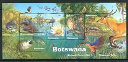 Botswana 2000 Wetlands - Okavango Delta MS MNH (SG MS938) - Botswana (1966-...)