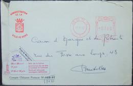 Belgium - Official Meter Franking Cover 1962 Mons Beer Label - Bières
