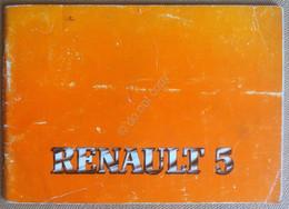 Libretto Uso E Manutenzione - Renault 5 - 2^ Edizione - Auto Epoca Vintage - Other Collections