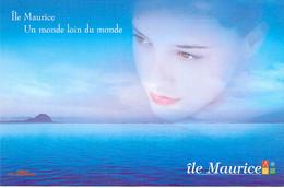 """** Lot De 2 Cartes ** ILE MAURICE Mauritius - Carte PUB """" Un Monde Loin Du Monde """" CPM GF - Afrique Africa Océan Indien - Mauritius"""