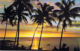 ** Lot De 3 Cartes ** ILE MAURICE Mauritius - Cocotiers Coconut Trees ( 2 Couchers De Soleil Sunset ) CPM GF - Afrique - Mauritius
