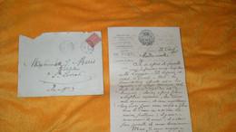 ENVELOPPE + LETTRE ANCIENNE DE 1906..MAIRIE DE FUMEL CABINET DU MAIRE LOT ET GARONNE / CACHET + TIMBRE - Postmark Collection (Covers)